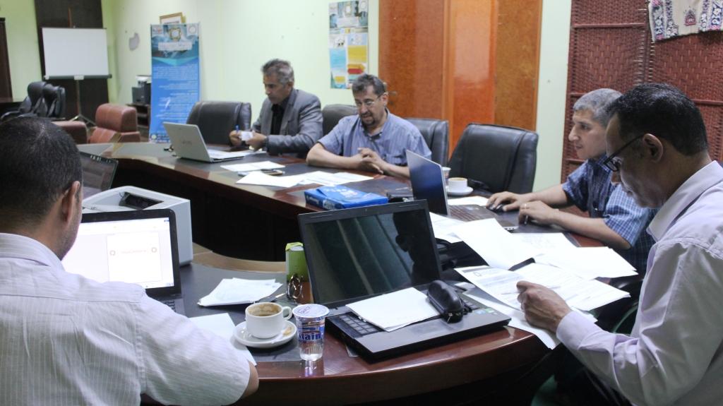 اجتماع اللجنة العلمية المشرفة علي مؤتمر التعليم العالي التقني والجامعي